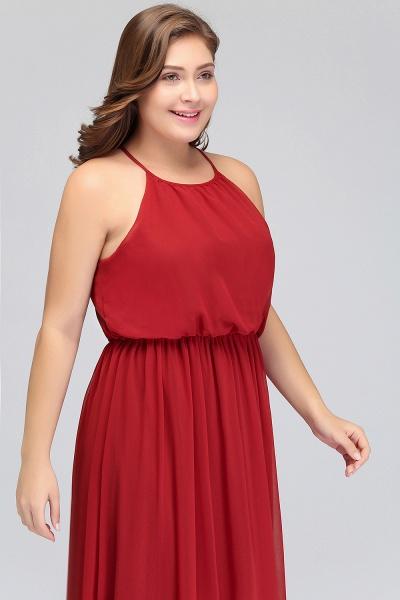 JAIDA   A-Line Straps Floor Length Sleeveless Plus size Evening Dresses with Ruffles_7