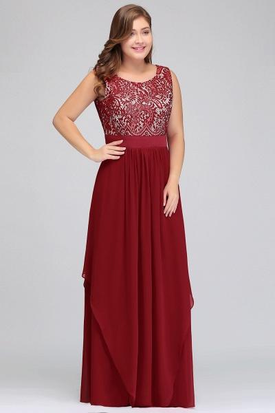 ILIANA | A-Line Scoop Plus size Long Sleeveless Lace Appliques Chiffon Evening Dresses_7