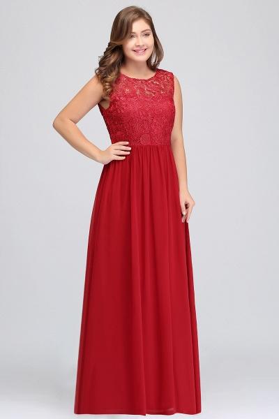 ISLA | A-Line Crew Floor Length Sleeveless Plus size Lace Chiffon Evening Dresses_6