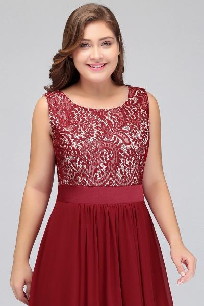 ILIANA | A-Line Scoop Plus size Long Sleeveless Lace Appliques Chiffon Evening Dresses_5