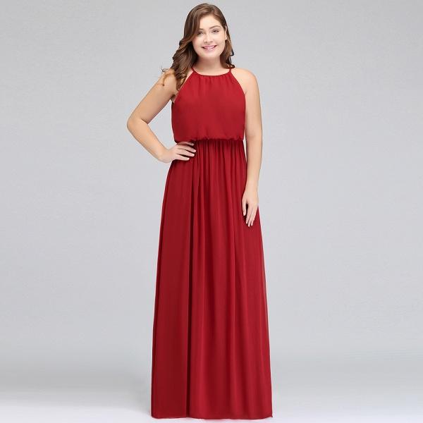 JAIDA   A-Line Straps Floor Length Sleeveless Plus size Evening Dresses with Ruffles_9