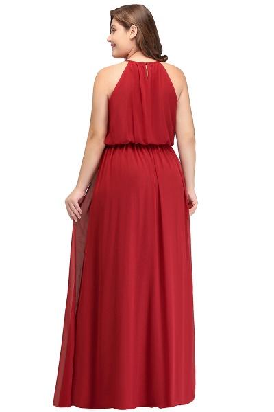 JAIDA   A-Line Straps Floor Length Sleeveless Plus size Evening Dresses with Ruffles_3