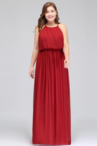 JAIDA   A-Line Straps Floor Length Sleeveless Plus size Evening Dresses with Ruffles_6