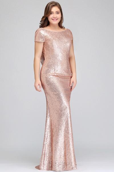 ISABEL | Mermaid Bateau Short sleeves Plus size Floor Length Sequins Formal Dresses_11