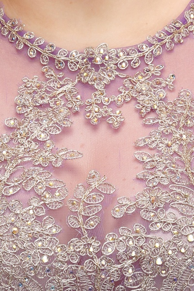 IVORY | Mermaid Crew Floor Length Sleeveless Plus size Evening Dresses with Appliques_10