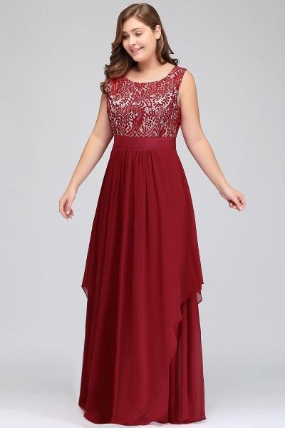 ILIANA | A-Line Scoop Plus size Long Sleeveless Lace Appliques Chiffon Evening Dresses_4