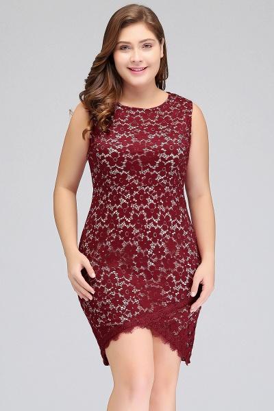 JANIYAH   Mermaid Scoop Short Sleeveless Plus size Lace Cocktail Dresses_8