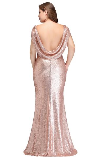 ISABEL | Mermaid Bateau Short sleeves Plus size Floor Length Sequins Formal Dresses_3