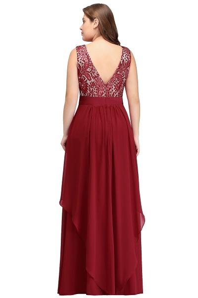 ILIANA | A-Line Scoop Plus size Long Sleeveless Lace Appliques Chiffon Evening Dresses_3