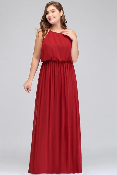 JAIDA   A-Line Straps Floor Length Sleeveless Plus size Evening Dresses with Ruffles_5