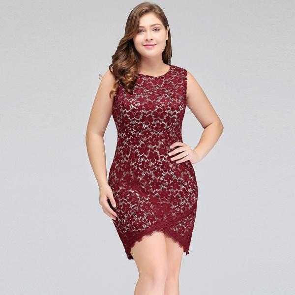JANIYAH   Mermaid Scoop Short Sleeveless Plus size Lace Cocktail Dresses_6