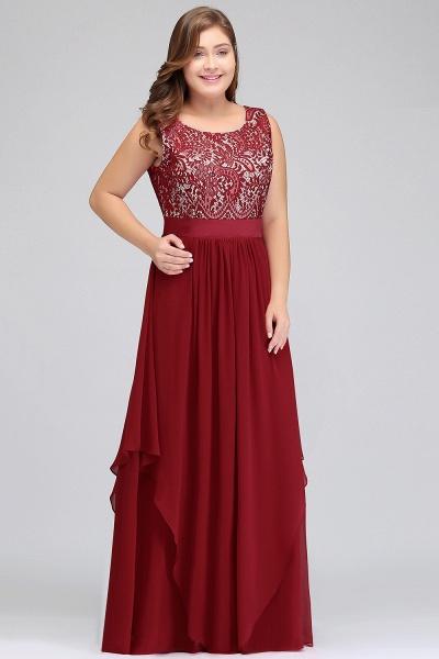 ILIANA | A-Line Scoop Plus size Long Sleeveless Lace Appliques Chiffon Evening Dresses_6