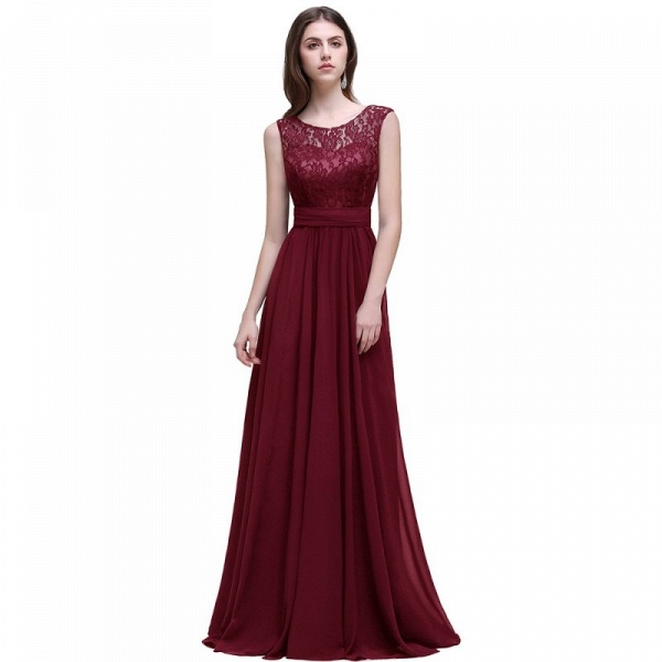 Eye-catching Scoop Chiffon A-line Evening Dress_2
