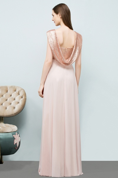 A-line Chiffon Sequins Straps Sweetheart Sleeveless Floor-Length Bridesmaid Dresses_2