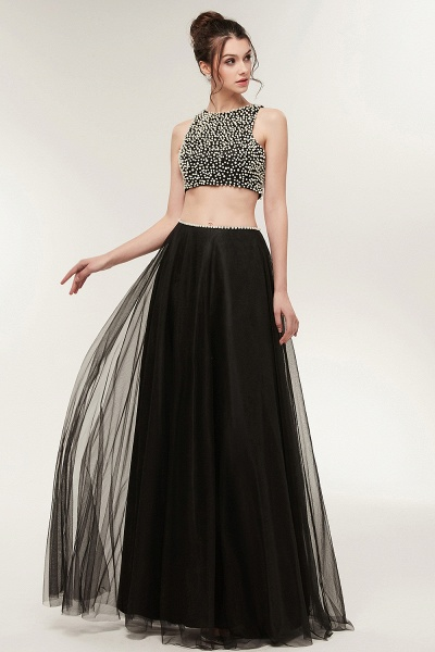 Wonderful Jewel Tulle Two Pieces Evening Dress_6