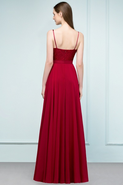 Sleek Bateau Chiffon A-line Evening Dress_3