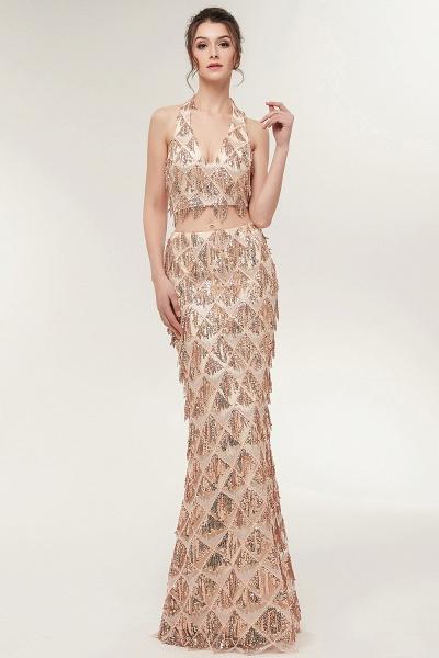 Chic Halter Chiffon Mermaid Evening Dress_4