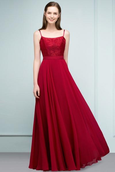 Sleek Bateau Chiffon A-line Evening Dress_10