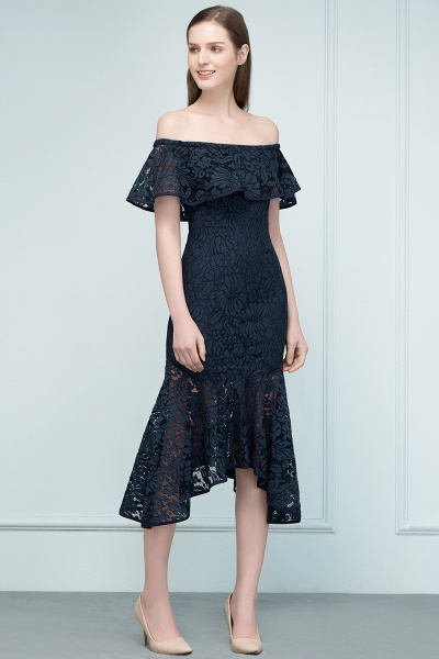 Affordable Off-the-shoulder Lace Mermaid Evening Dress_11