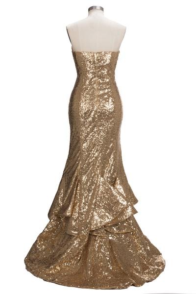VESTA | Mermaid Sweetheart Strapless Long Split Sequins Prom Dresses_3