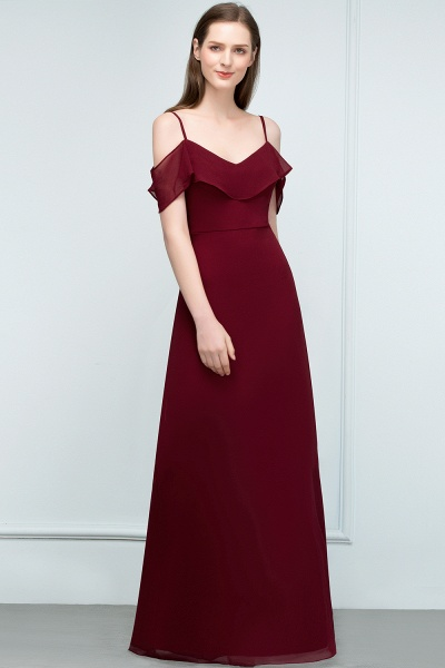 Elegant A-Line Chiffon Spaghetti Straps Sleeveless Floor-Length Bridesmaid Dresses_3