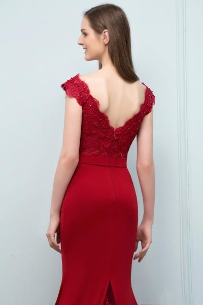 Affordable V-neck Stretch Satin Mermaid Evening Dress_6