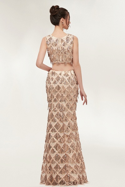Latest Jewel Chiffon Mermaid Evening Dress_8