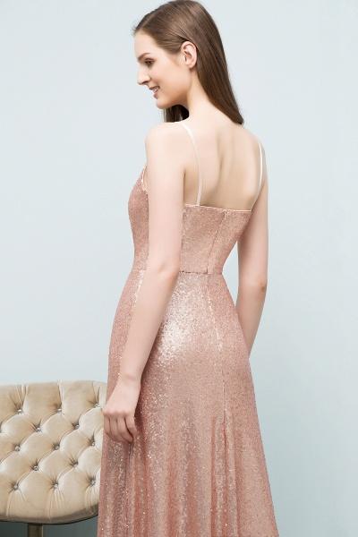 A-line Sequined V-Neck Spaghetti-Straps Sleeveless Floor-Length Bridesmaid Dress_5