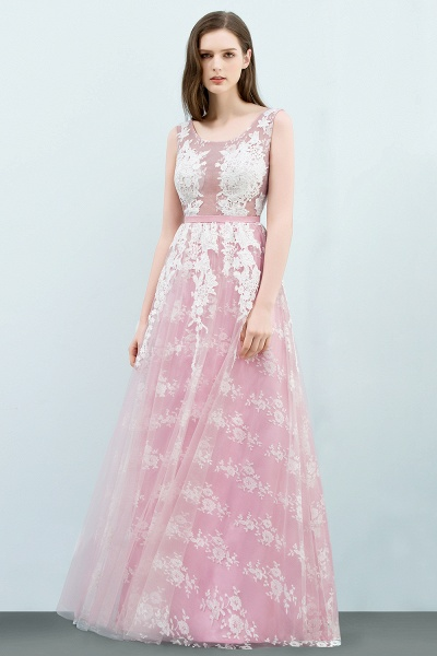Affordable Square Tulle A-line Evening Dress_2