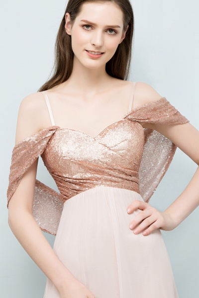 A-line Chiffon Sequins Straps Sweetheart Sleeveless Floor-Length Bridesmaid Dresses_5