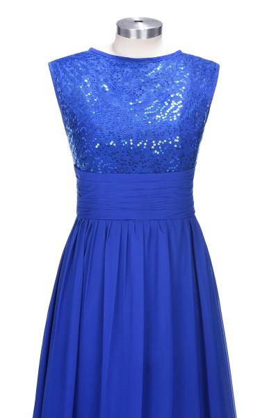 VICKI | A-line Sleeveless Crew Long Sequined Lace Chiffon Bridesmaid Dresses_6