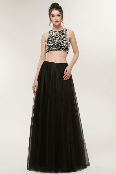 Wonderful Jewel Tulle Two Pieces Evening Dress_5