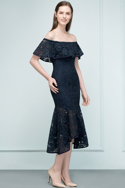 Affordable Off-the-shoulder Lace Mermaid Evening Dress_10