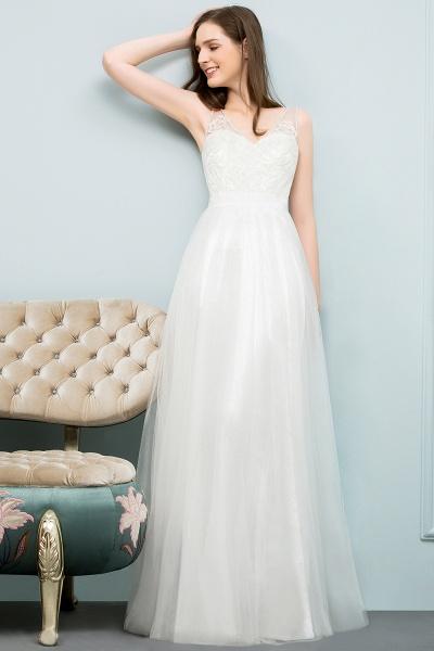 Fabulous V-neck Tulle A-line Evening Dress_8