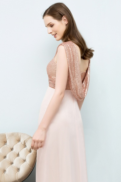 A-line Chiffon Sequins Straps Sweetheart Sleeveless Floor-Length Bridesmaid Dresses_6