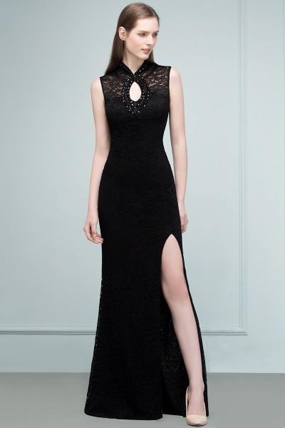 Modest High Neck Lace Mermaid Evening Dress_10