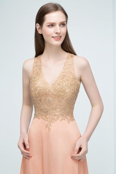 Excellent V-neck Chiffon A-line Evening Dress_8