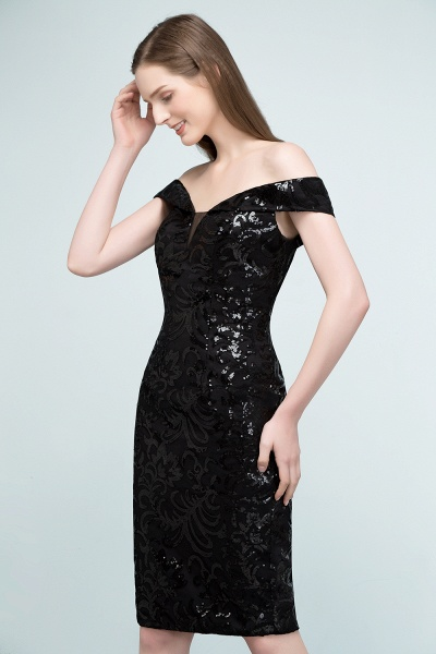 Attractive Off-the-shoulder Sequined Column Evening Dress_4