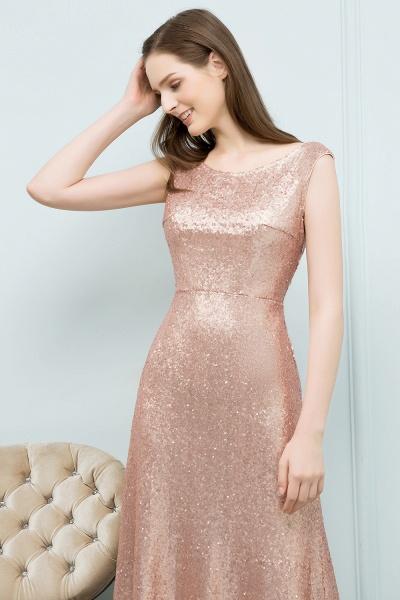 Elegant Jewel Sequined A-line Evening Dress_4