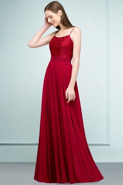 Sleek Bateau Chiffon A-line Evening Dress_8