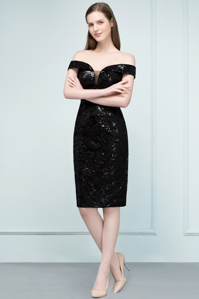 Attractive Off-the-shoulder Sequined Column Evening Dress_6