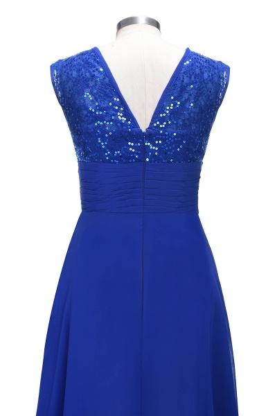 VICKI | A-line Sleeveless Crew Long Sequined Lace Chiffon Bridesmaid Dresses_4