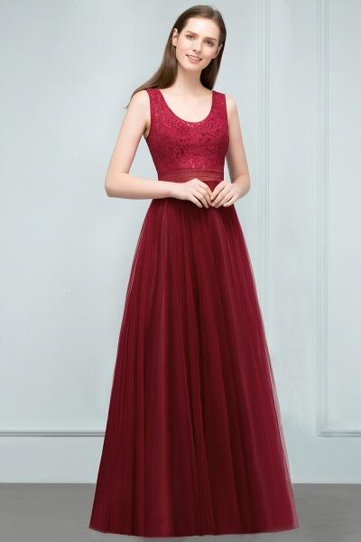Elegant Straps Tulle A-line Evening Dress_8