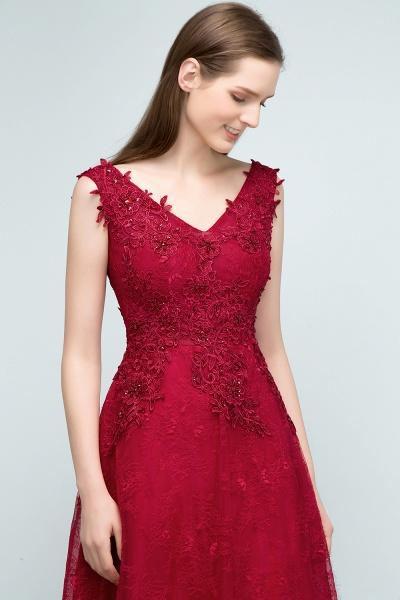 Affordable V-neck Tulle A-line Evening Dress_6