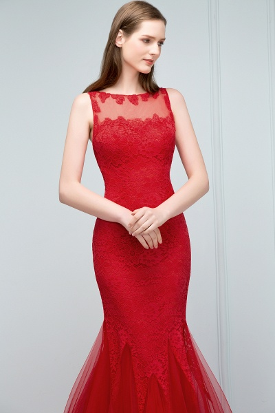 Chic Jewel Tulle Mermaid Evening Dress_8