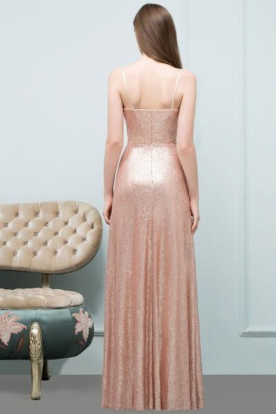 A-line Sequined V-Neck Spaghetti-Straps Sleeveless Floor-Length Bridesmaid Dress_2