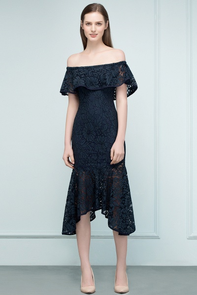 Affordable Off-the-shoulder Lace Mermaid Evening Dress_12
