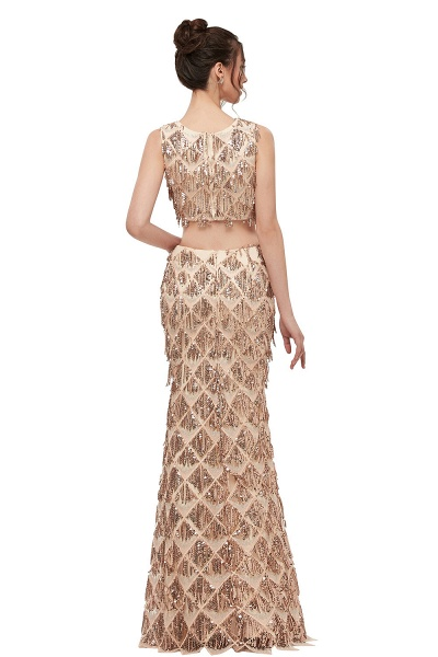 Latest Jewel Chiffon Mermaid Evening Dress_3