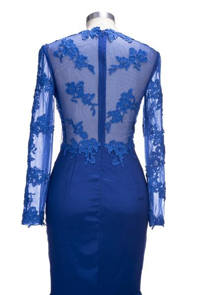 VICKIE | Mermaid Floor Length Illusion Top Long Sleeves Lace Prom Dresses_4