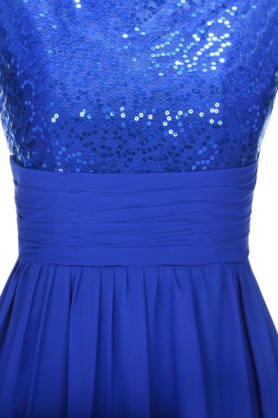 VICKI | A-line Sleeveless Crew Long Sequined Lace Chiffon Bridesmaid Dresses_8